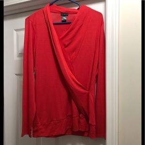 New Ann Taylor Bold red wrap top